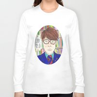 rushmore Long Sleeve T-shirts featuring I Saved Latin, What Did You Ever Do? - Rushmore by Lovemaltine