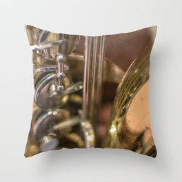 Saxophone detail Throw Pillow