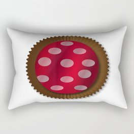Chocolate Box Wrapped In Foil Rectangular Pillow