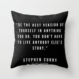 10    |  Sport Quotes | 190527 | Black Throw Pillow