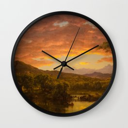 Frederic Edwin Church - A Country Home Wall Clock