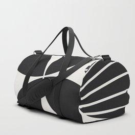Diamond Series Floral Diamond Twist White on Charcoal Duffle Bag