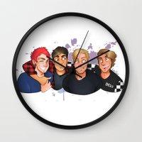 boys Wall Clocks featuring Boys by gabitozati