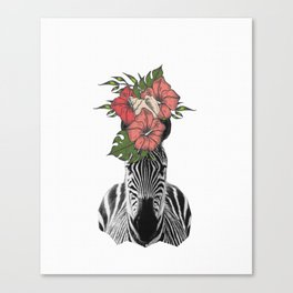 Tropical Zebra Canvas Print