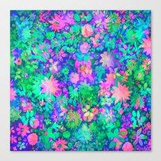 Fluro Floral Canvas Print