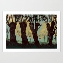 A Frisian Landscape Art Print
