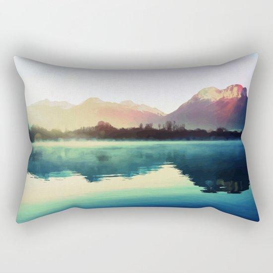 Mountains #watercolor Rectangular Pillow