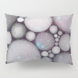 OBLIVIOUS SPHERES IN SPACE BLACK AND BLUE Pillow Sham