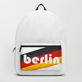 Berlin, with flag colors Backpack