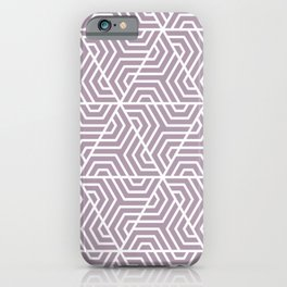 Lilac Luster - violet - Geometric Seamless Triangles Pattern iPhone Case