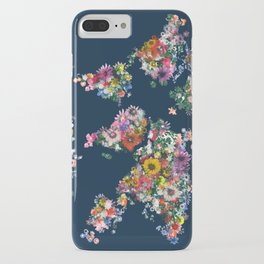 world map floral iPhone Case