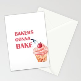 Bakers gonna bake Stationery Cards