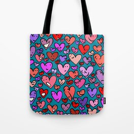 #MindfulHearts #faces Tote Bag