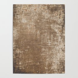 Cement Weathered Brown Abstract Photograph Poster