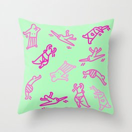 Dance In Your (Green) Pants Throw Pillow