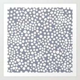Random Dots in Blue Seamless Pattern Art Print