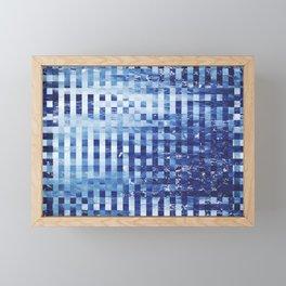 Nautical pixel abstract pattern Framed Mini Art Print