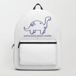 Peaceful Plant Eater Dino Backpack