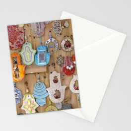 Hamsa lucky charms Stationery Cards