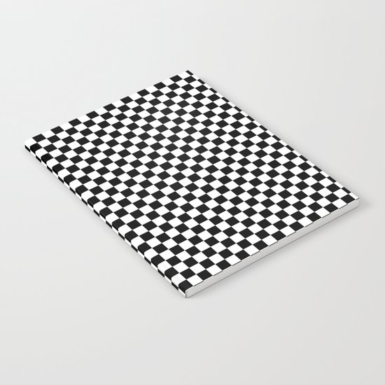 Black White Checks Notebook