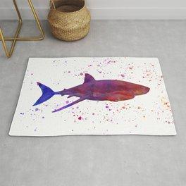 shark in watercolor Rug