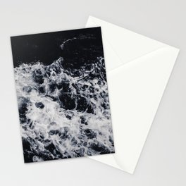 OCEAN - WAVES - SEA - ROCKS - DARK - WATER Stationery Cards