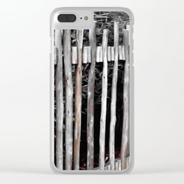 Primitive Stick Fence Clear iPhone Case
