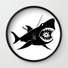 Sharks & Daisies #2 Wall Clock