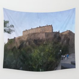 Edinburgh Castle from Johnston Terrace Wall Tapestry