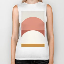 Abstract Geometric 01B Biker Tank