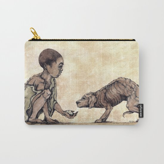 Boy and Puppy Carry-All Pouch