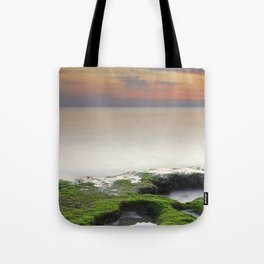 """""""Green, white and red beach"""" Tote Bag"""
