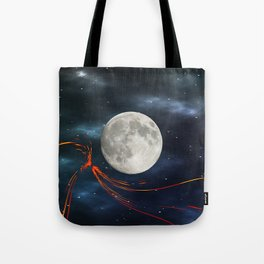 Fire streaks in the universe Tote Bag