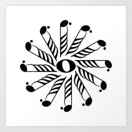 Music note mandala 3 Art Print