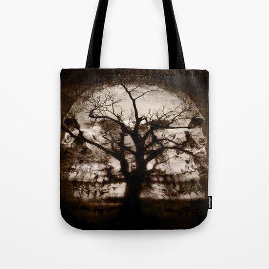 dark skull tree  Tote Bag