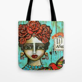 FRIDA PAINTING BAD ASS Tote Bag
