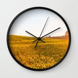 Field of Sunshine Wall Clock