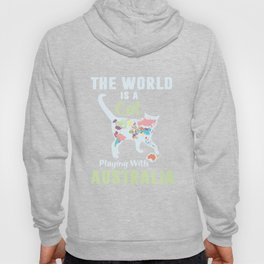 The world is a cat playing with Australia. Hoody