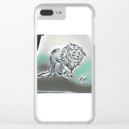 Dark Lion by Ryan Reynolds Clear iPhone Case