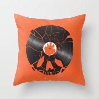 shaun of the dead Throw Pillows featuring Shaun of the dead by Wharton