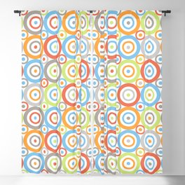 Abstract Circles Pattern Color Mix & Greys Blackout Curtain