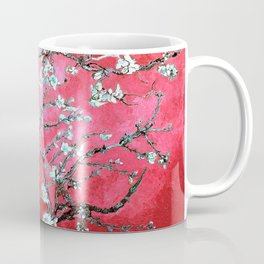 Van Gogh Almond Blossoms : Reddish Pink & Light Blue Coffee Mug