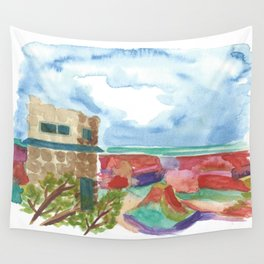 south rim // arizona landscape watercolor Wall Tapestry