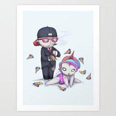 PIZZA RAIN Art Print