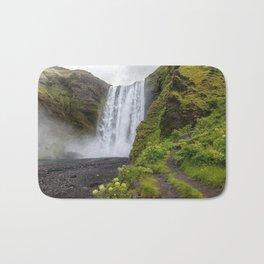 Skogafoss Iceland Ultra HD Bath Mat