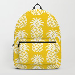 Mid Century Modern Pineapple Pattern Yellow Backpack