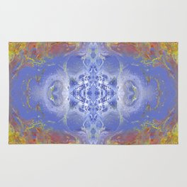 Psycho - Fire surrounding Ice with great depth by annmariescreations Rug