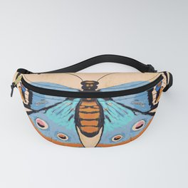 Baby Blue Butterfly Fanny Pack