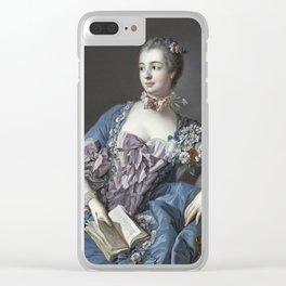 Francois Boucher - Madame De Pompadour Clear iPhone Case