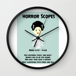 Horror Scopes Aries for Female Wall Clock